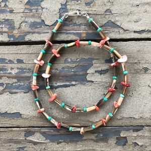 Spiny Oyster Turquoise Abalone Necklace